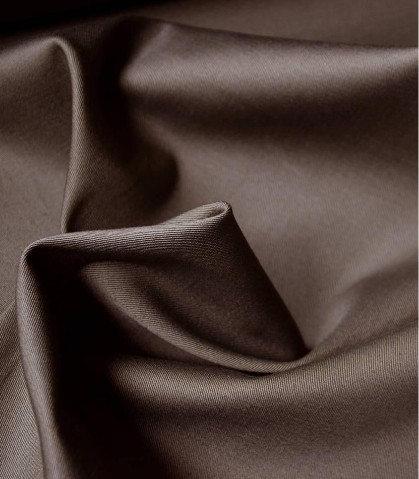 Tissu gabardine stretch - Soft brown