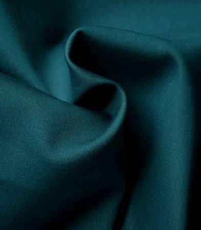 Tissu gabardine stretch - Blue oil
