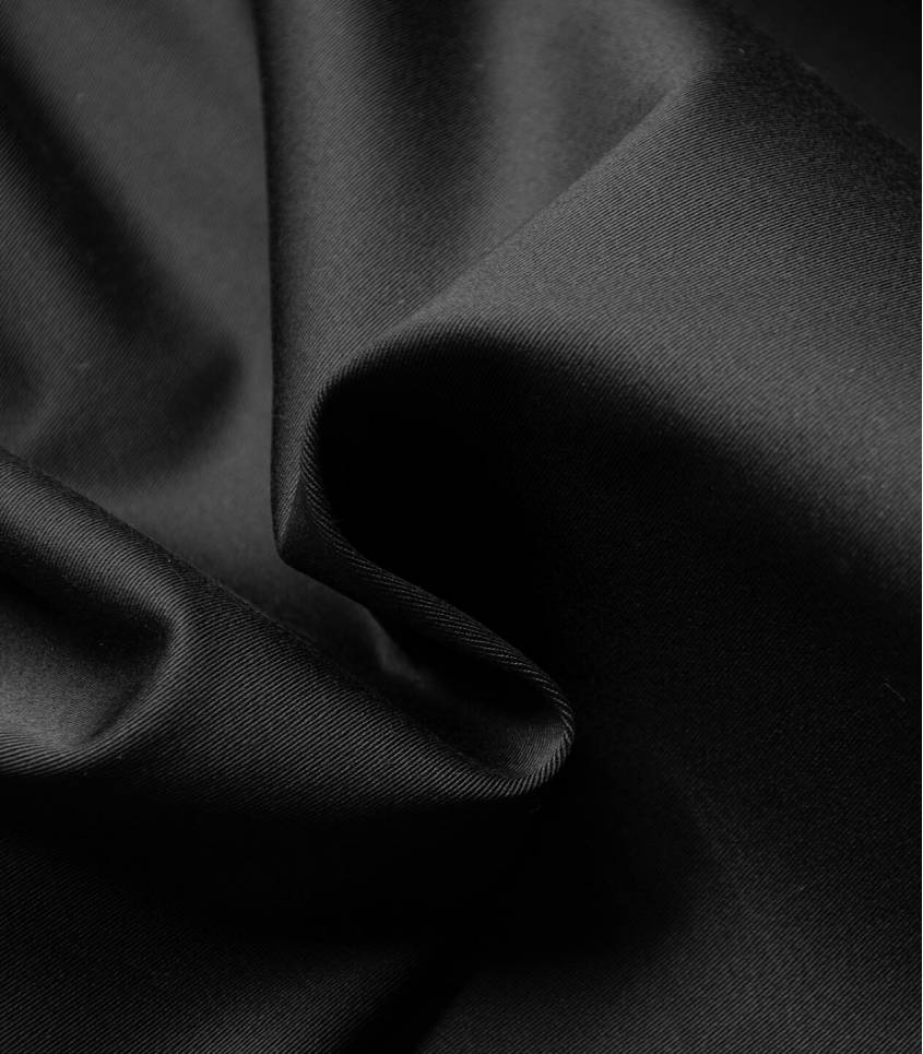 Tissu gabardine stretch - Black