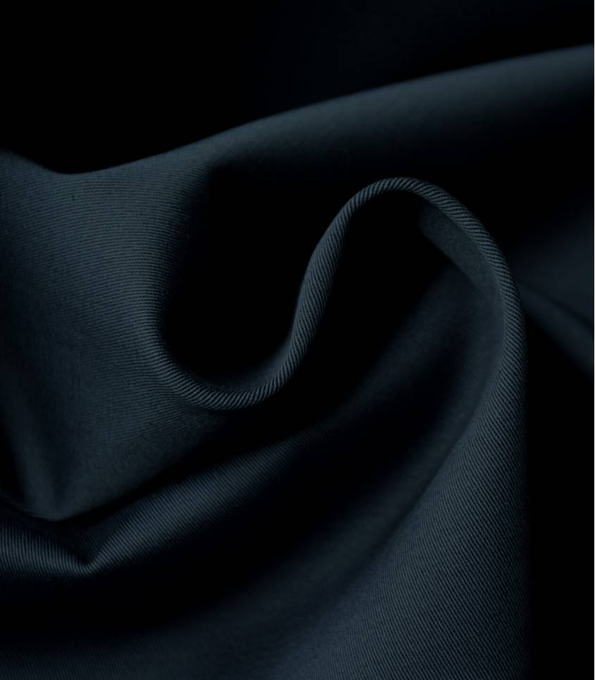 Tissu gabardine stretch - Navy blue