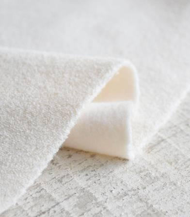 Tissu Microéponge coton bio - Double face (Eponge/Molleton)