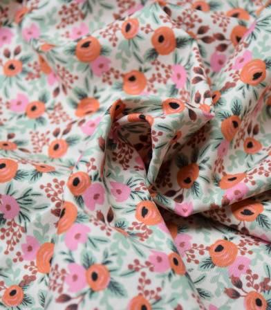 Tissu coton Primavera - Rosa - Blush