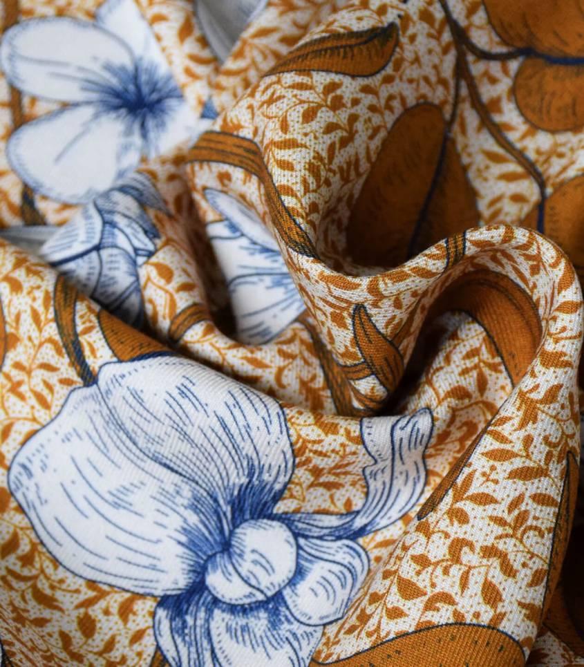 Tissu viscose Lily Flower