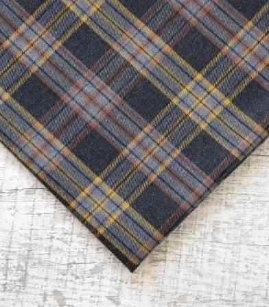 Tissu carreaux écossais - Gris & ocre