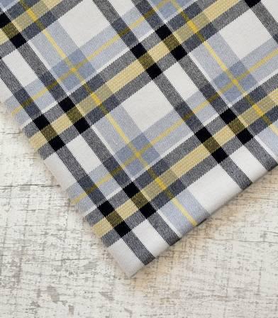Tissu carreaux écossais - Gris & Blanc