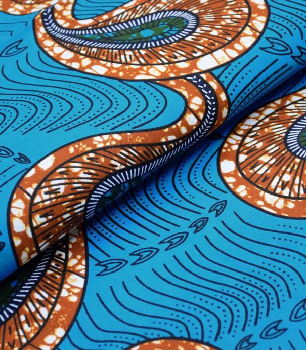 Tissu wax - Meershaum - Blue