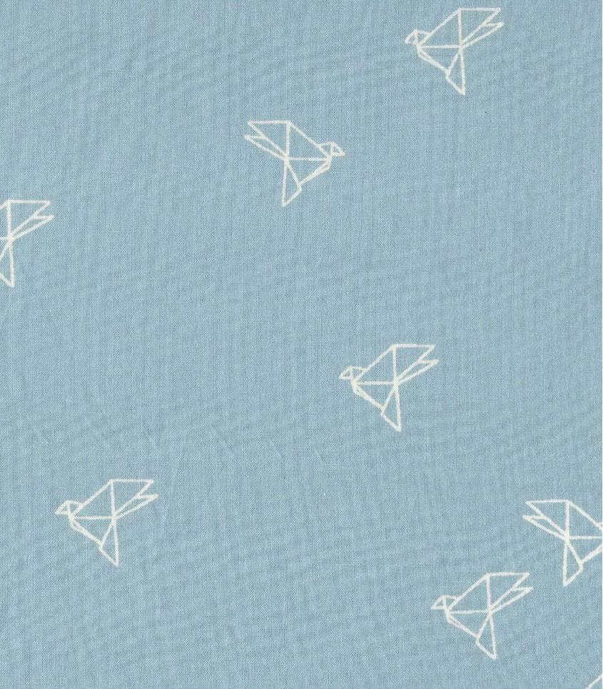 Tissu Bye-bye birdie blue jean