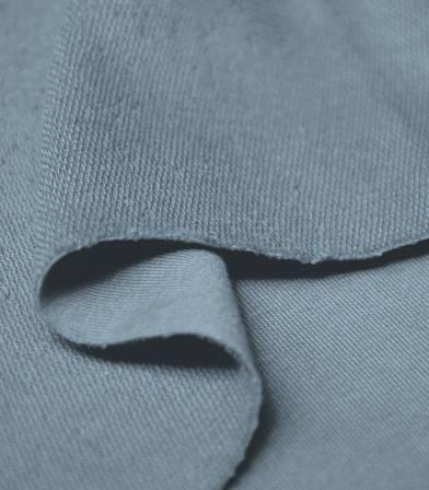 Tissu bio French terry - Dusty blue