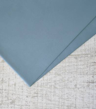 Tissu popeline de coton Dusty Blue