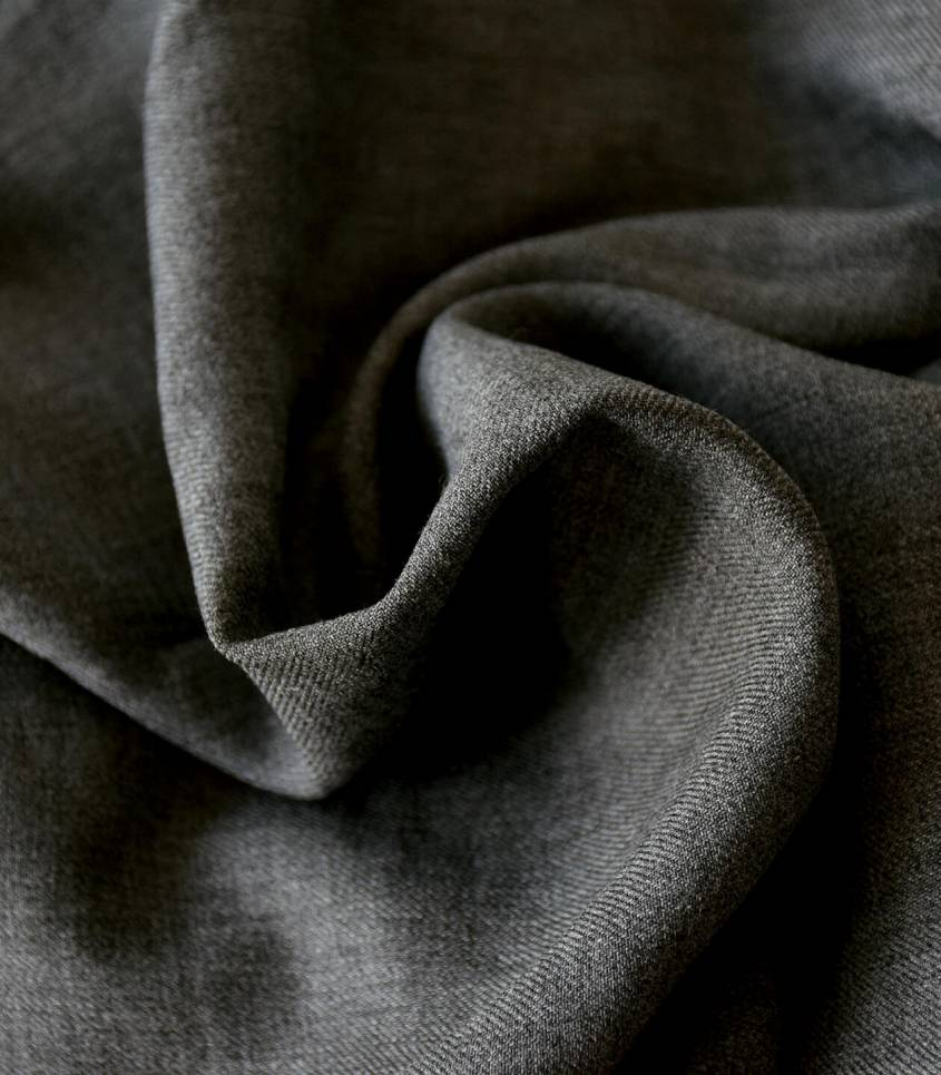 Tissu twill viscose - Chiné gris