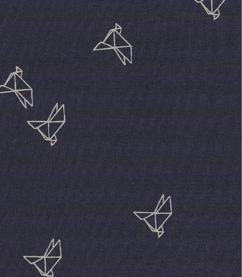 Tissu Bye-bye birdie navy