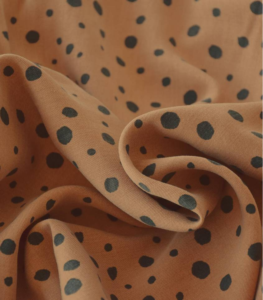 Tissu lyocell - Fleurs sauvages fudge