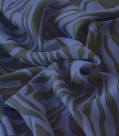 Tissu lyocell - Zébré bleu