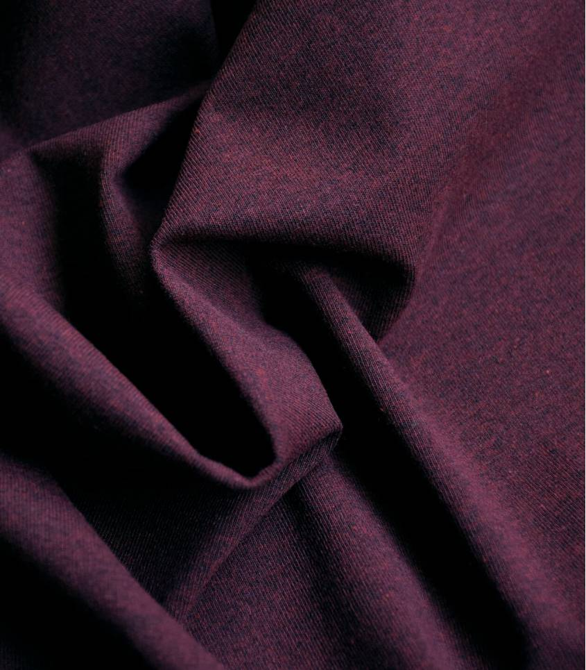Tissu Jersey chiné - Wine