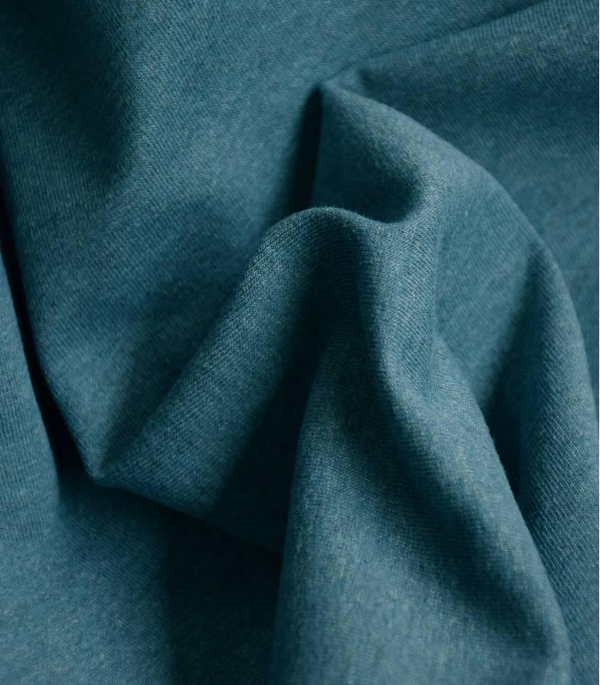 Tissu Jersey chiné - Blue sea