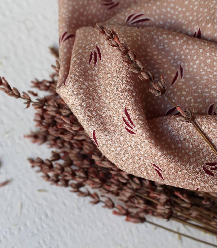 Tissu Crêpe Dune Maple