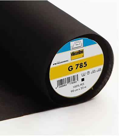 Entoilage thermocollant noir G785
