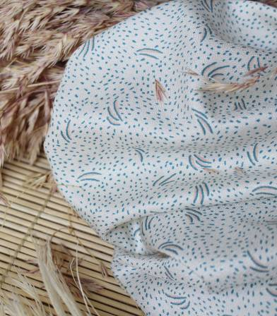 Tissu Crêpe Dune Off-White