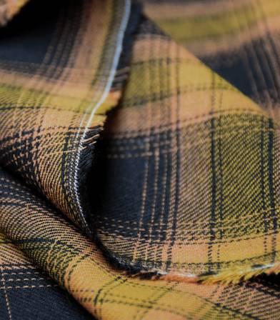 Tissu coton écossais Jack - Yellow black