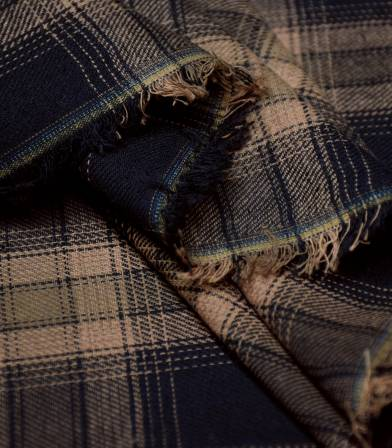 Tissu coton écossais Jack - brown