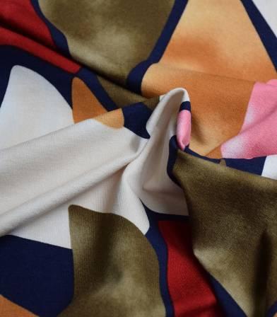 Tissu jersey viscose - Shape Tie&Dye Kaki