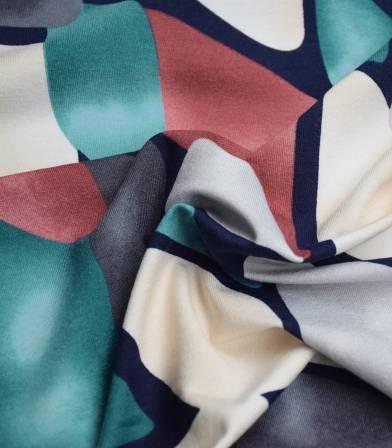 Tissu jersey viscose - Shape Tie&Dye Pink