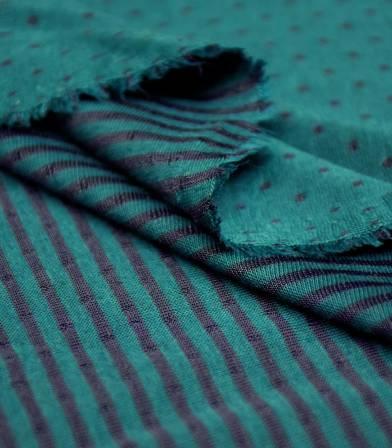 Tissu Jersey double face plumetis - Pétrole