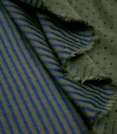 Tissu Jersey double face plumetis - Kaki