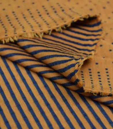 Tissu Jersey double face plumetis - Rouille