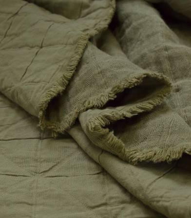 Tissu jacquard Coton - Rushes