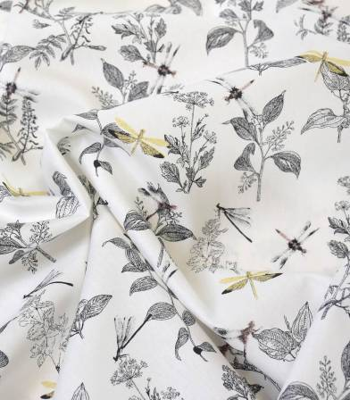 Popeline bio - Dragonfly White