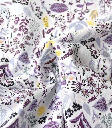 Popeline bio - Herb Garden - lilac