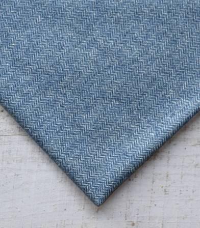 Tissu lainage Petits chevrons Blue