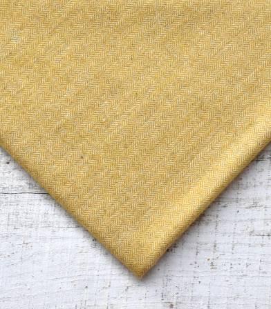 Tissu lainage Petits chevrons Mustard