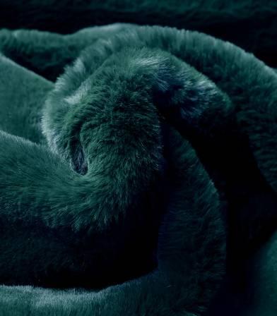 Tissu Fausse fourrure - Vert sombre