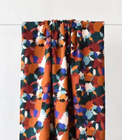 Tissu viscose Bouquet d'automne