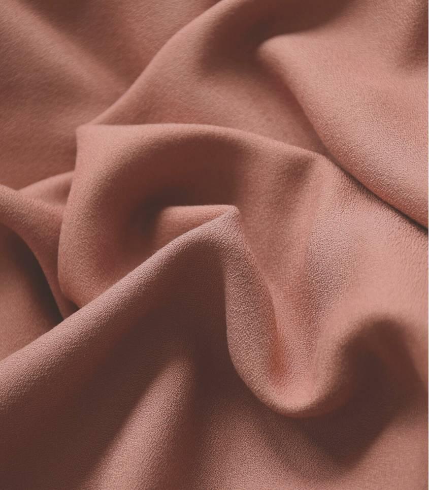 Tissu crêpe de viscose - Noisette