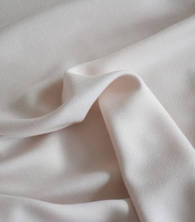 Tissu crêpe de viscose - Crème