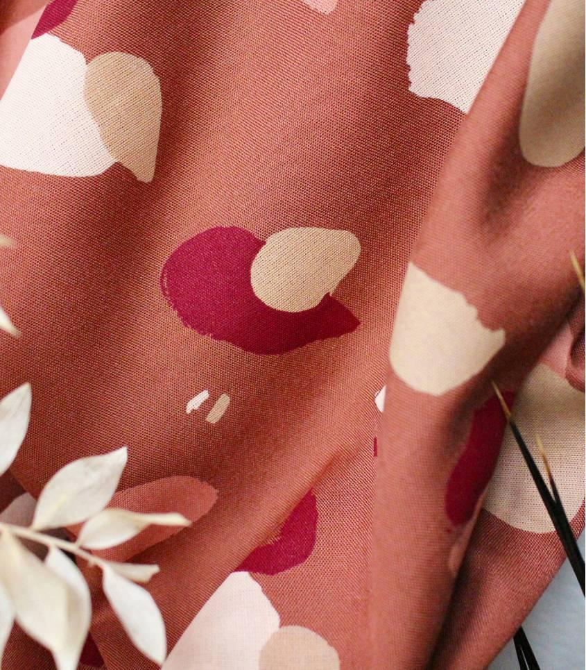 Tissu Granito chesnut