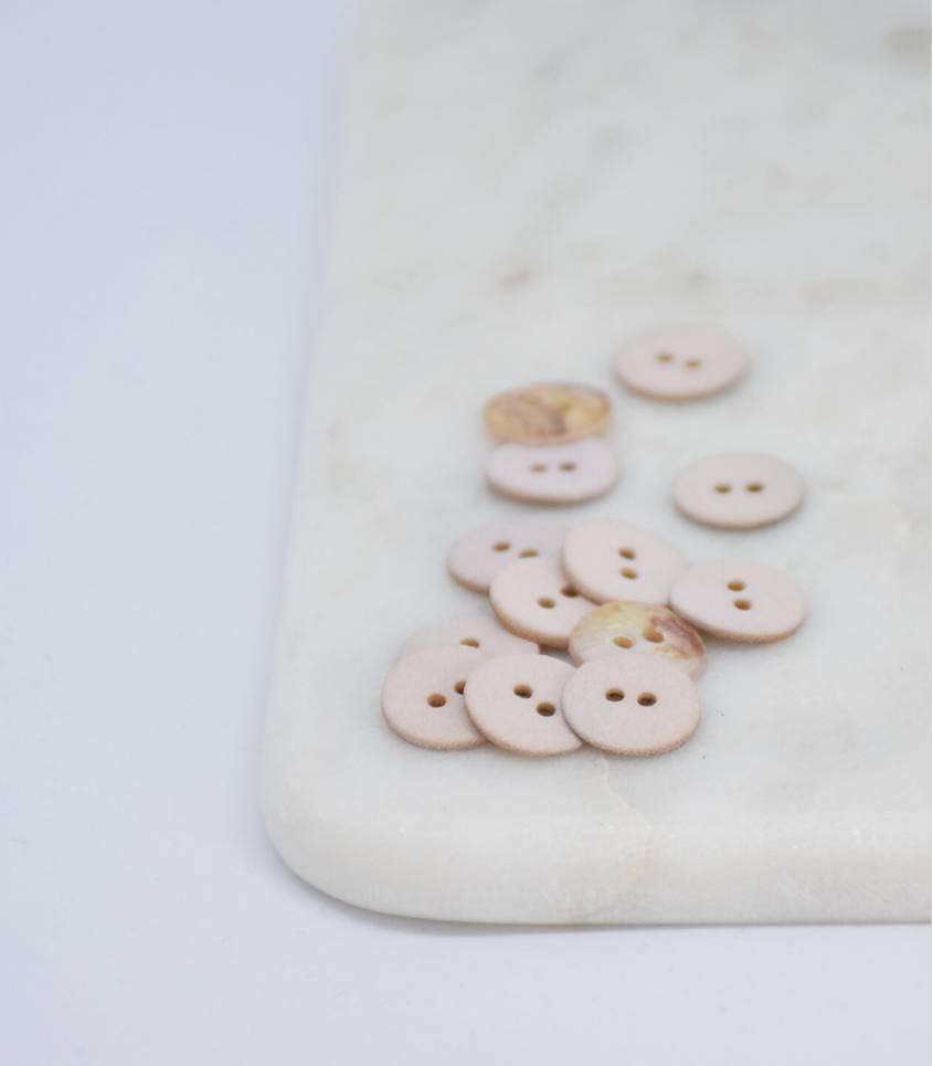 Boutons nacre mat - Crème