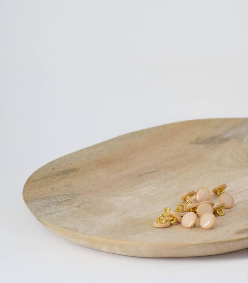Boutons à queue 10mm - Irisé crème