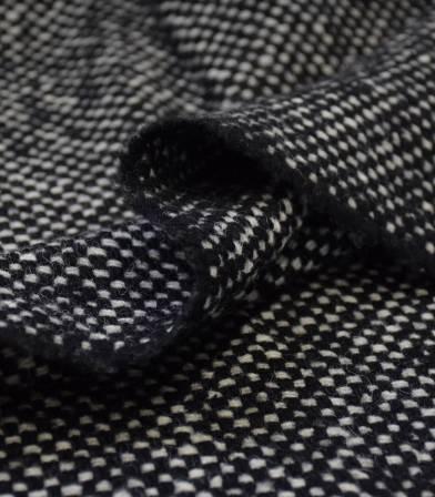 Tissu Lainage tissé - black & white