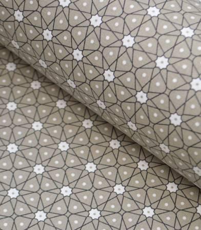 Tissu coton - Ceramik Taupe