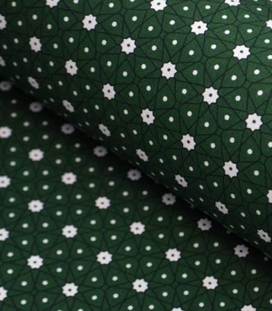 Tissu coton - Ceramik Emeraude