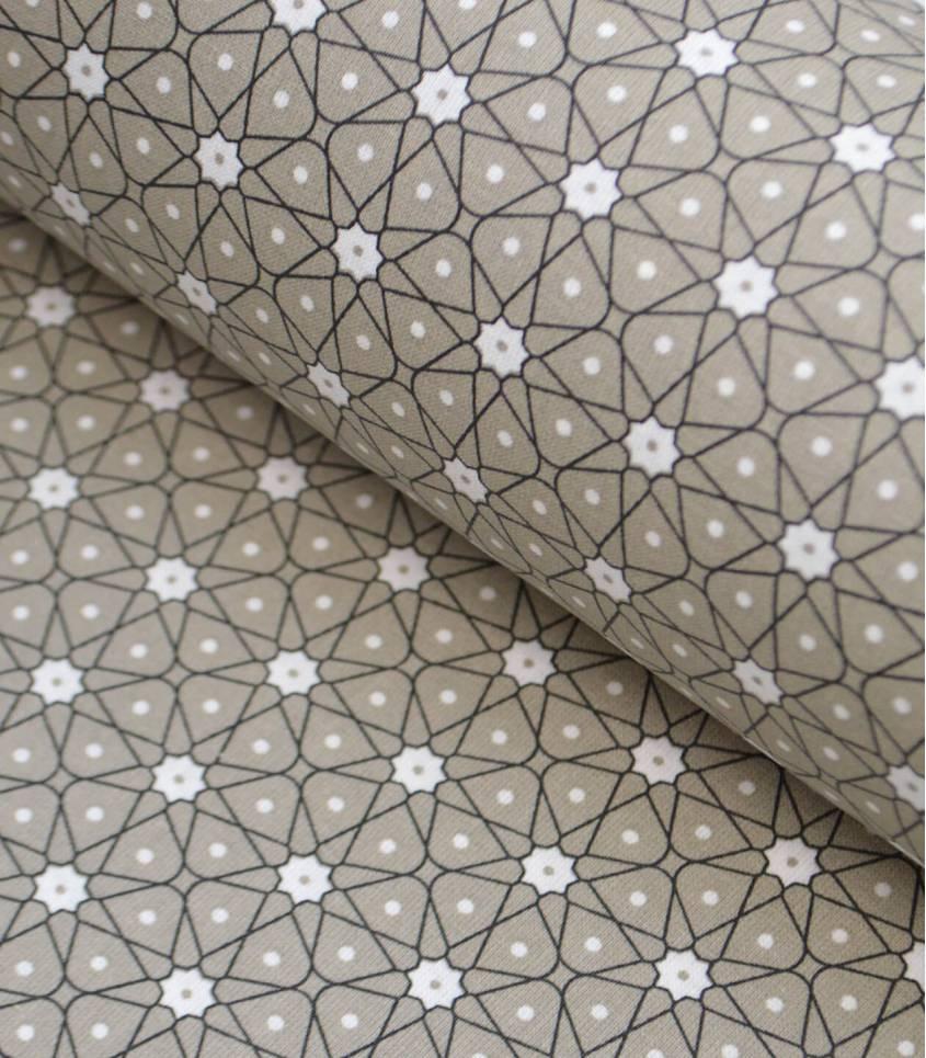 Tissu enduit - Ceramique Taupe