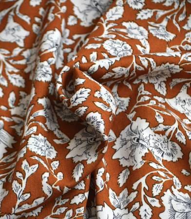 Tissu viscose Garance - Ambre