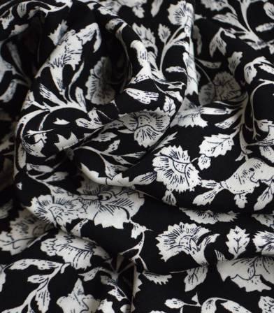 Tissu viscose Garance - Noir