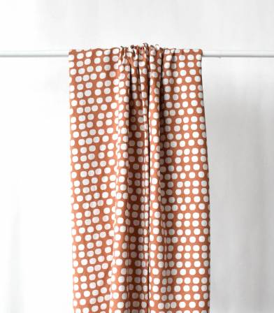 Tissu viscose Sixties dots - cannelle