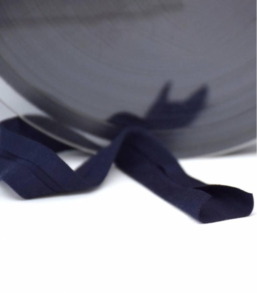 Biais jersey viscose - Bleu marine