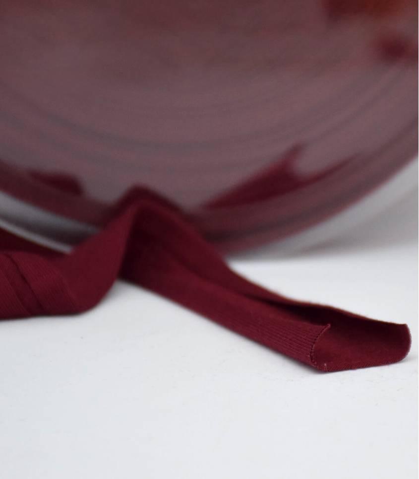 Biais jersey viscose - Bordeaux